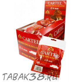 Сигаретные фильтры CARTEL СЛИМ Long 100 шт.(6 мм, удлиненные)
