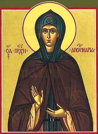 Икона Аполлинария Египетская (рукописная)