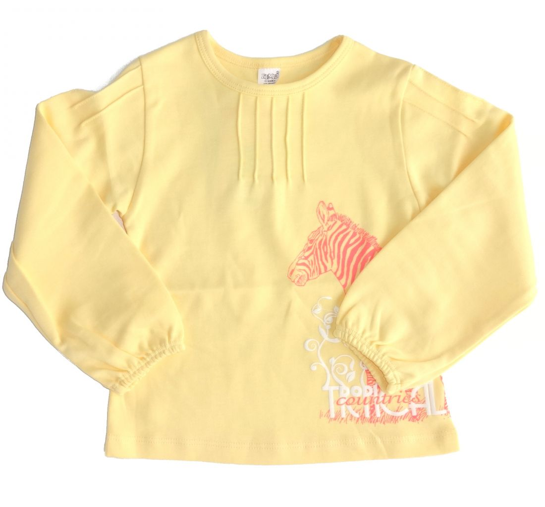 Майка для девочки Желтый тропик