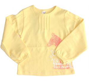 Майка для девочки желтая с принтом зебры от Бемби фб160