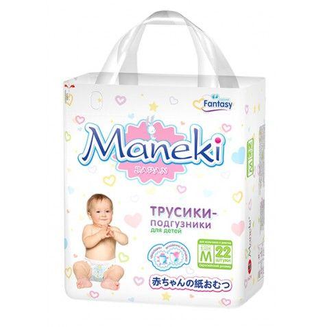 Maneki Подгузники-трусики детские одноразовые Fantasy МИНИ, размер M, 6-11 кг, 22 шт./упак