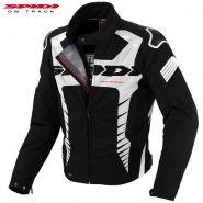 Мотокуртка SPIDI Warrior Sport H2Out, Чёрно-белая