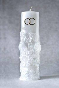 Свеча Очаг №1 (белый)