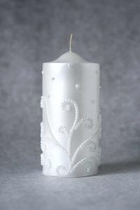 Свеча декоративная №4 (белый)