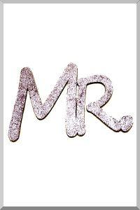 Слова для фотосессий MR и MRS (розовый) (Ш:13 Д:25)