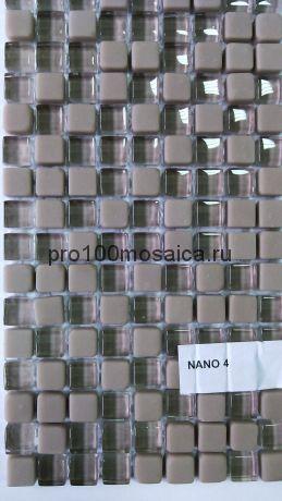 Nano Beige. Мозаика серия GLASS, размер, мм: 298*298*6 (ORRO Mosaic)