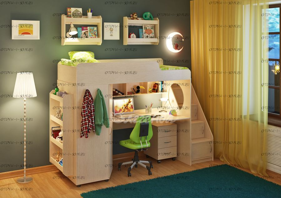 Детская комната Легенда-4.3 с полками