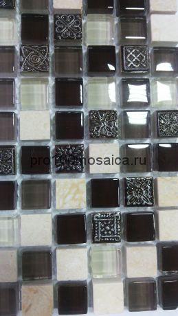 Arabica. Мозаика серия GLASSTONE,  размер, мм: 300*300*8 (ORRO Mosaic)