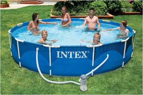 366х76см (28212) Бассейн каркасный INTEX + насос-фильтр