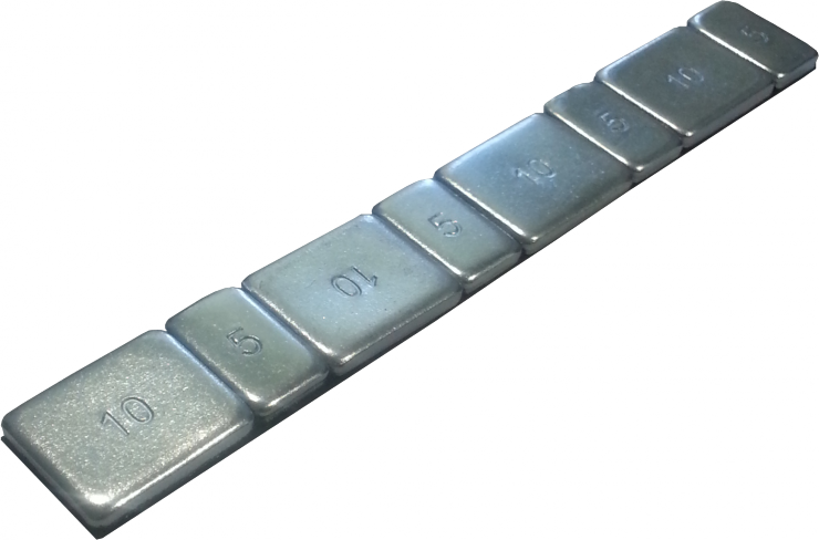 Самоклеющиеся грузики 60гр. стальные  (упак.)
