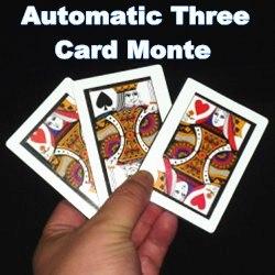 Автоматическая карта монте (перевертыш)  (размер: 8.8 x 6.4 см)