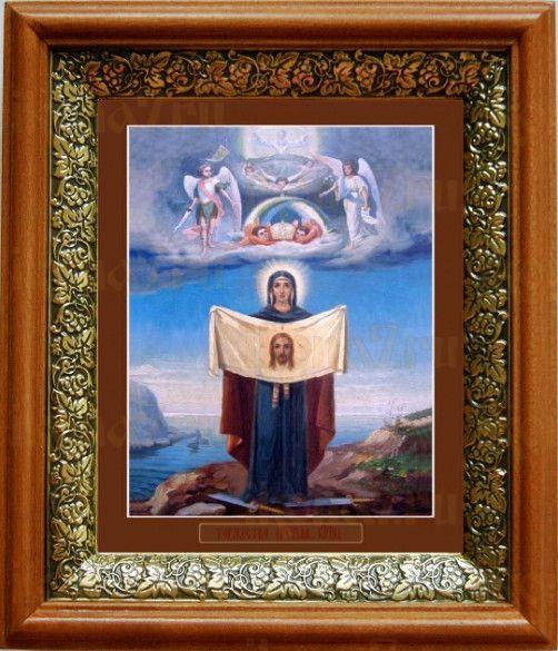 Порт-Артурская икона БМ (19х22), светлый киот