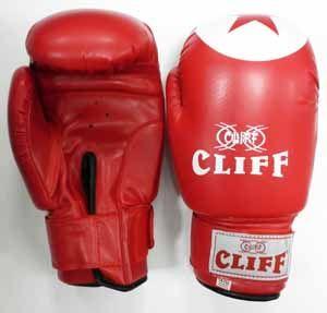 Перчатки боксерские CLIFF,TIGER STAR (DX), 12 oz красные