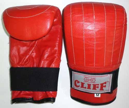 Перчатки  снарядные CLIFF,  кожа, красные