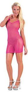 Платье-сетка розовое