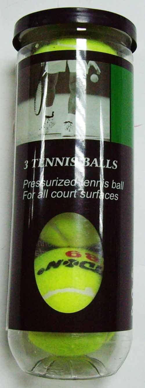 Мяч большого тенниса упаковка 3 шт (в тубе под давлением), артикул 989
