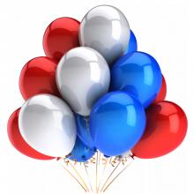 Набор гелиевых шаров Триколор
