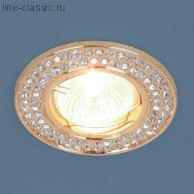 Точ/светильник ES 8334 MR16 GD/CL золото/прозрачный