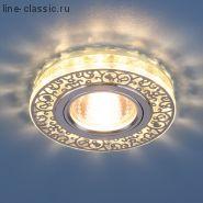 Точ/светильник ES 6034 MR16 CH/CL хром/прозрачный