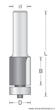 Концевая обгонная фреза DIMAR для инкрустации 1014169
