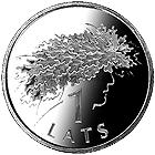 Латвия 1 лат 2006 Дубовый венок Праздник Лиго