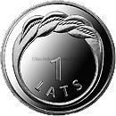 Латвия 1 лат 2009 Кольцо Намейса