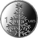 Латвия 1 лат 2009 Рождественская ель