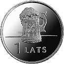 Латвия 1 лат 2011 Кружка