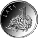 Латвия 1 лат 2012 Ёжик