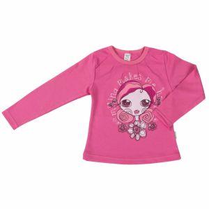 Майка для девочки розовая с принтом девочки Бемби 2415311