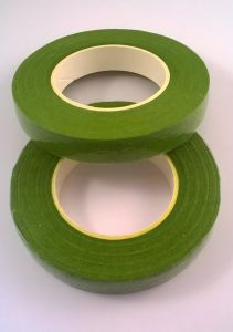 Тейп-лента 12 мм, цвет светло-зеленый (1 упаковка = 5 шт)