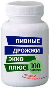 Пивные дрожжи Экко Плюс (100 табл.)