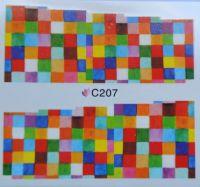 Водная наклейка для дизайна ногтей С 207