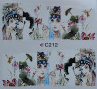 Водная наклейка для дизайна ногтей С 212
