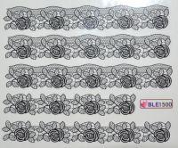 Водная наклейка для дизайна ногтей BLE 1500