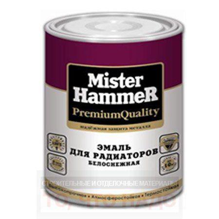 Эмаль Mister Hammer Белая для радиаторов