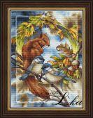 Схема для вышивки крестом Жители леса - Белка