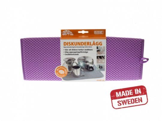 Smart Microfiber Коврик для посуды 41х46 см (фиолетовый)