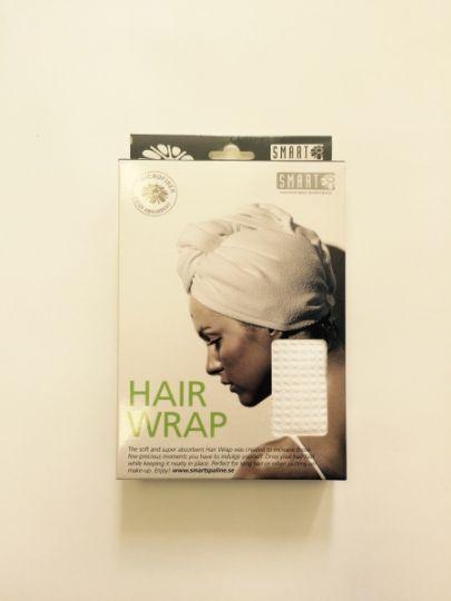 Smart Microfiber Тюрбан вафельный для сушки волос белый