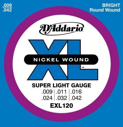 D`ADDARIO EXL120 (9-42) Струны для электрогитары