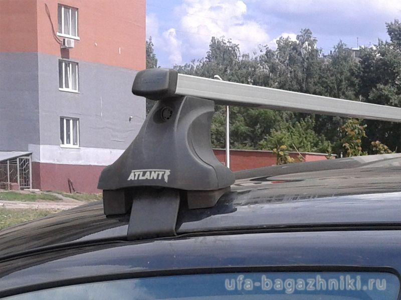 Багажник на крышу Mitsubishi Outlander 3 (без рейлингов), Атлант, прямоугольные дуги