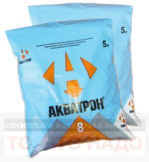 Гидроизоляция АКВАТРОН 8 гидропломба 20кг