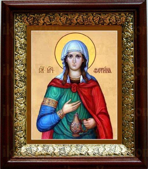 Светлана (Фотиния) Римская (19х22), темный киот