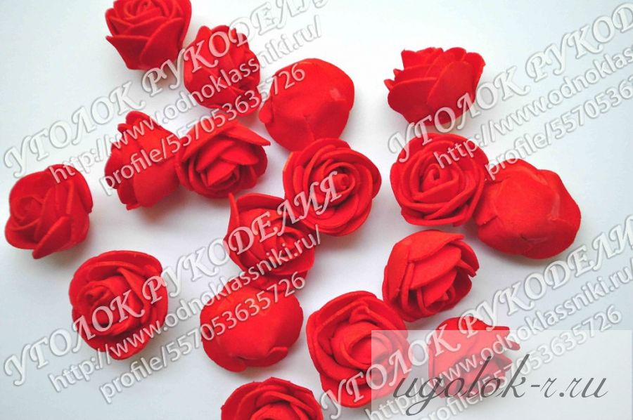 Роза головка латексная