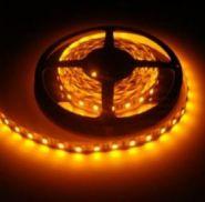 Светодиодная лента в силиконе 5050 12 V 14.4 W 60 LED (диодов) на 1 м желтая IP65