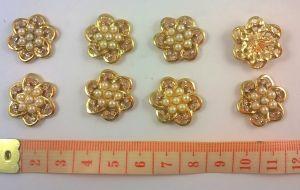 Кабошон, металл, цвет основы - золото, 20 мм. 1уп = 10шт, Арт. КБС0026