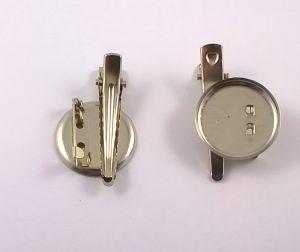 Заколка (45 мм)+платформа(30 мм)+иголка. Цвет - серебро. (1 упаковка=50 шт)
