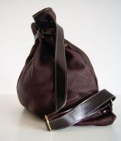 BUFALO BP03 BROWN кожаный рюкзак-мешок