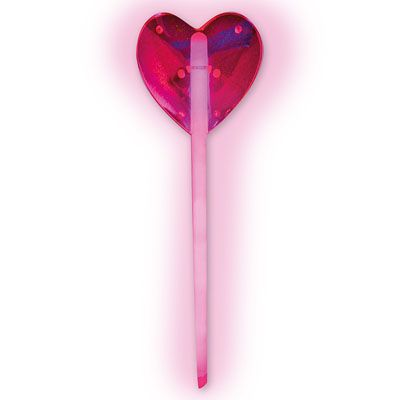 Светящаяся палочка Сердце, розовая