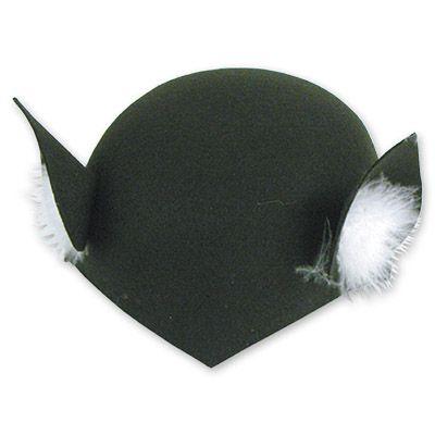 Шапочка Кошка фетр черная